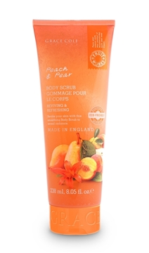Bilde av Grace Cole Peach & Pear 238Ml Eco Body Scrub