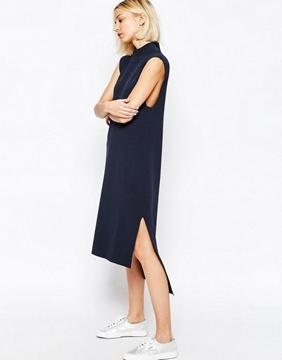 Bilde av ADPT Way High Neck Knit Dress F
