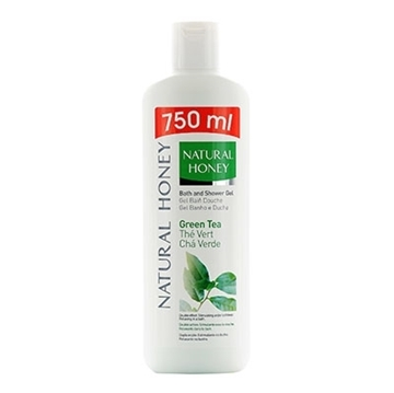 Bilde av Natural Honey Shower Gel Green Tea 750ml
