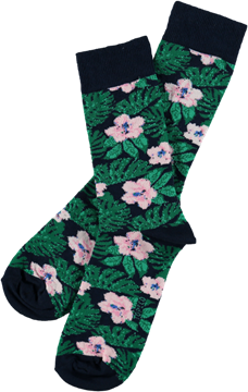 Bilde av Mens Socks Tropical Flowers