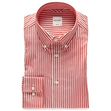 Bilde av John Henric Red Striped Button Down Shirt