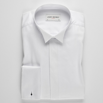 Bilde av John Henric White Tuxedo Shirt Wing Collar
